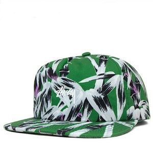 Stussy OSFA Green Bamboo Snapback Baseball Cap